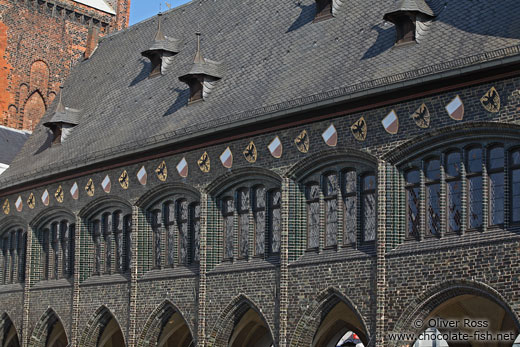 Facade of Lübeck`s old town hall