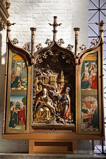 Display in St. Mary´s church (Marienkirche) in Lübeck