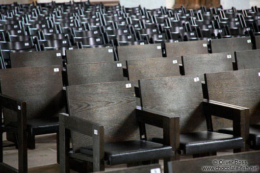 Rows of chairs in Lübeck´s St. Mary´s church (Marienkirche)