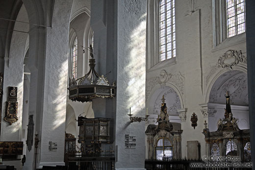 Inside St. Mary´s church (Marienkirche) a protestant church in Lübeck`s city centre