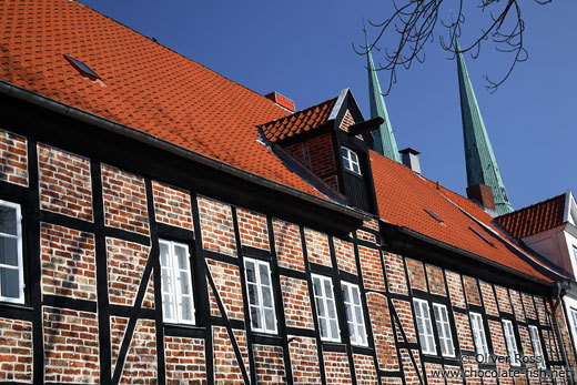 Old half-timbered house in Lübeck