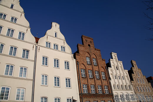 Old merchant houses in Lübeck