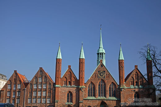 Facade of the old hospital in Lübeck