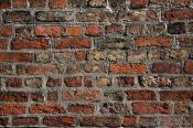 Travel photography:Weathered brick wall in Lübeck, Germany