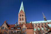 Travel photography:St. Mary´s church (Marienkireche) in Lübeck, Germany