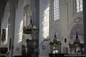 Travel photography:Inside St. Mary´s church (Marienkirche) a protestant church in Lübeck`s city centre, Germany