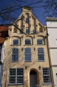 Travel photography:Facade of a Lübeck house, Germany