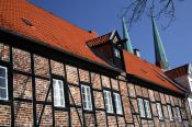 Travel photography:Old half-timbered house in Lübeck, Germany