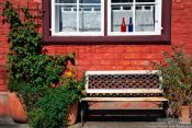 Travel photography:House with bench in Lübeck, Germany