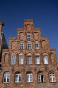 Travel photography:House facade in Lübeck, Germany