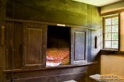 Travel photography:Bed chamber inside an typical 18th century Frisian house, Germany