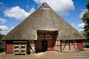 Travel photography:Typical 18th century Frisian half-timbered farm house, Germany