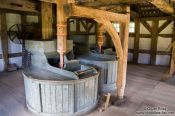 Travel photography:Interior of an old mill, Germany