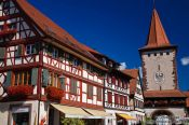 Travel photography:House and old guard tower in Gengenbach , Germany