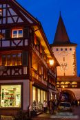 Travel photography:Gengenbach after sunset, Germany