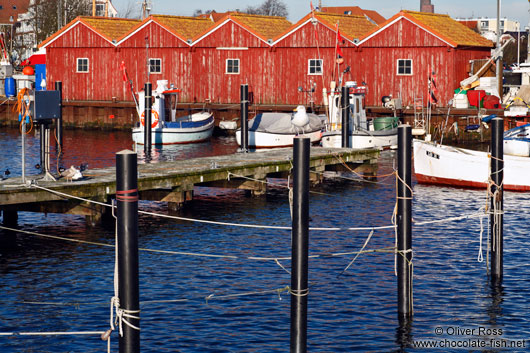 Boat houses in Laboe harbour