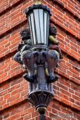 Travel photography:Old street light in Plön, Germany