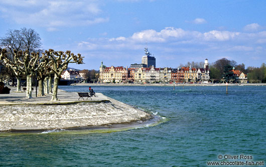 The Seestrasse in Constance (Konstanz) with part of the city park
