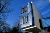 Travel photography:Modern house at the lakeside in Constance (Konstanz), Germany