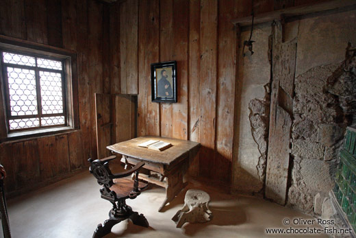 Martin Luther`s room on the Wartburg