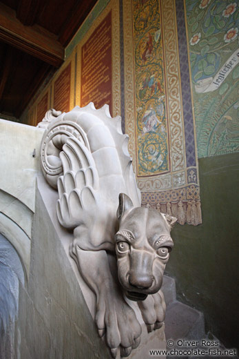 Dragon Dog in the Sängersaal of the Wartburg Castle