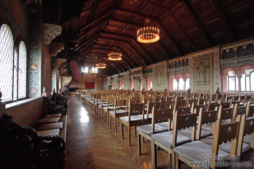 The Festsaal (celebration chamber) on the Wartburg Castle