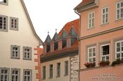 Travel photography:Houses near the main square in Erfurt, Germany