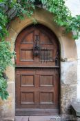 Travel photography:Door to the living tract on the Wartburg Castle, Germany