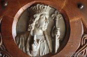 Travel photography:Door relief on the Wartburg Castle, Germany