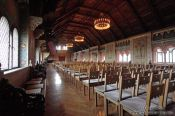 Travel photography:The Festsaal (celebration chamber) on the Wartburg Castle, Germany