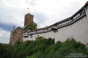 Travel photography:View of the Wartburg Castle from the gate, Germany