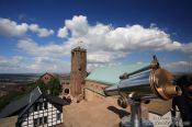 Travel photography:View of the Wartburg Castle from the south tower, Germany