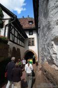 Travel photography:Narrow way to the gate of the Wartburg Castle, Germany