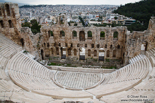 Dyonissos amphitheatre on the Athens Akropolis