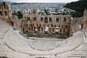 Travel photography:Dyonissos amphitheatre on the Athens Akropolis, Greece