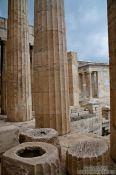 Travel photography:Columns near the Athens Akropolis entrance, Greece