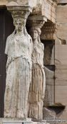 Travel photography:The Porch of the Caryatids on the Erechtheum on the Athens Akropolis, Greece