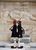 Travel photography:Guards at the Monument of the Unknown Soldier in Athens - Tsolias, Greece