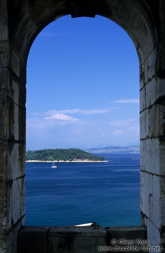 View from the New Venetian Fortress in Corfu