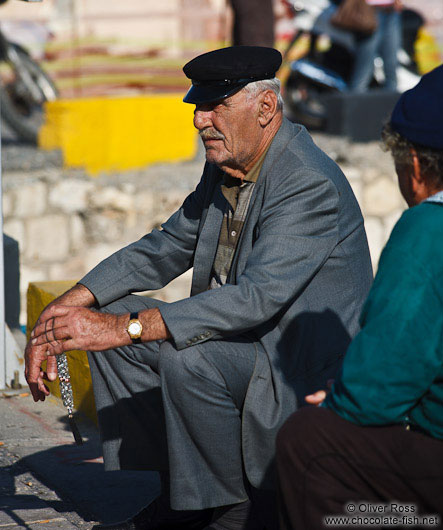 Man in Iraklio (Heraklion) harbour