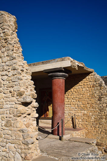 Reconstructions at Knossos archeological site