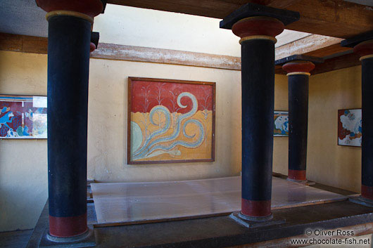 "Frescos in the ""Palace of Minos"" at Knossos"