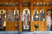 Travel photography:Main altar piece in a church near Rethymno, Grece