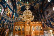 Travel photography:Main altar inside the Garazo church, Grece