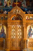 Travel photography:Main altar door inside the Garazo church, Grece