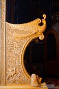Travel photography:Chair detail inside the Garazo church, Grece