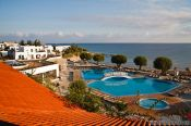 Travel photography:View from the Creta Maris Hotel in Heronisos, Grece
