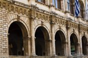 Travel photography:Arches at the Venetian loggia in Iraklio (Heraklion), Grece