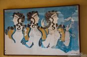 Travel photography:Fresco showing three women at Knossos, Grece