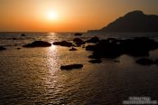 Travel photography:Sunset at Plakias, Grece